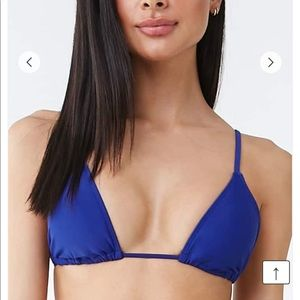Royal blue forever 21 triangle bikini top